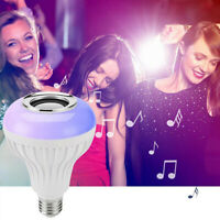 RGB E27 12W Wireless Bluetooth LED Light Speaker Bulb Music Playing lamp Remote
