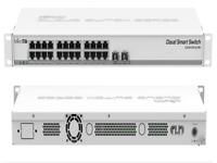 Mikrotik Cloud Smart Switch CSS326-24G-2S+RM, 24 x Gbit LAN, 2x 10Gbit SFP+ Cage