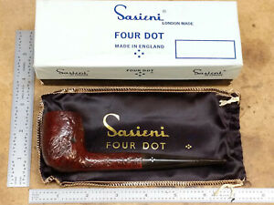 Sasieni 4. Buckingham ruff-root London made smoking pipe inbox with bag