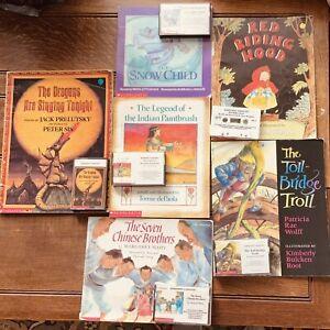 Books CHILDRENS BOOKS On Tape Audio Cassette Read Out Loud LISTENING CENTER 5