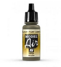 VAL71247 AV Model Air Light Olive Vallejo Model Airbrush Paint 17ml bottle