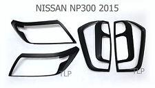 SET MATTE BLACK HEAD LIGHT TAIL LAMP COVER FOR NISSAN NAVARA NP300 2015 2016 UTE