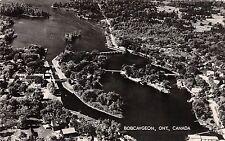 A67/ Bobcaygeon Ontario Canada Postcard Real Photo RPPC c40s Birdseye View