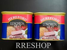 HEREFORD LUNCHEON MEAT 12 OZ - Lot of 2