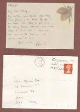 Francis King, Novelist, letter card , mother's 100th birthday, H.Alexander  JX80
