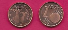 CYPRUS 1 EURO CENT 2008 UNC TWO MOUFFLON SPECIES,LARGE VALUE AT LEFT,GLOBE AT LO