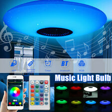 30W Dimmable LED Ceiling Fixtures Light Remote Control bluetooth Speaker   !