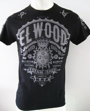 ELWOOD Mens Premium Latest Top Tee T-Shirt Size S M L XL XXL black hurley fox