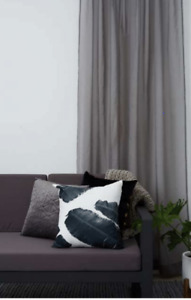 NEW Mykonos Sheer Eyelet Curtain LINEN LOOK 450 cm wide x 221 cm drop -4 colours