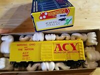HO Scale TRAIN ROUNDHOUSE ACY AKRON AC&Y OHIO AND NATION YELLOW KADEES 3299