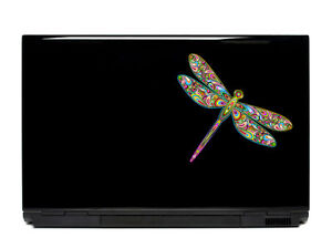 Ornate Dragonfly Vinyl Laptop or Automotive Art sticker decal computer auto