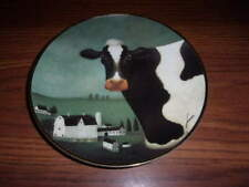 The Franklin Mint American Folk Art Collection Cow Country Collector Plate