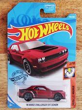 mopar /'15 DODGE CHALLENGER SRT ✰yellow-orange; pr5✰MUSCLE ✰2018 LOOSE Hot Wheels