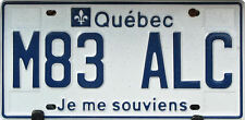 Framed Print - Québec Canada Number License Plate (Picture Vehicle Car Art)