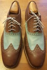 Cole Haan, Brown/Turquoise, Leather, Wingtips w/Nike Air Sole  (Size 11.5M)