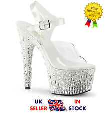 Pleaser Adore-708MR-5 Shoes Size 3 36 Sandals Platform High Heels Ankle Strap