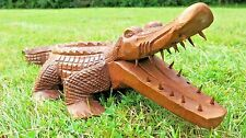 LARGE HANDCARVED CROCODILE (50cm) FROM INDONESIA
