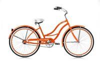 Micargi TAHITI-F-ORG 26 in. Tahiti Womens Beach Cruiser Bicycle Orange & Orange