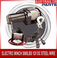 3000 LBS 12 V ELECTRIC WINCH WITH STEEL CABLE