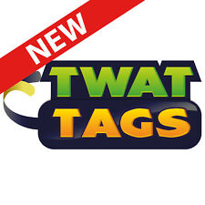 TwatTags Stickers Office Pack funny work party leaving gift rude adult joke