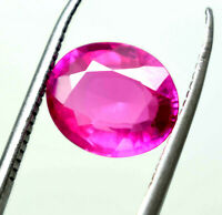 4.35 CT GGL CERTIFICATE NATURAL OVAL CUT PINK SAPPHIRE GEMSTONE