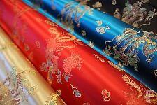 Chinesisch Brokat Stoff - Drachen Design - 100% Polyester - Breite 92cm