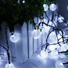 50LED 29.5ft String Ball Lights Outdoor Garden Party Wedding Decor Waterproof