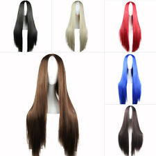 70cm Women Straight Long Heat Resistant Hair Lady Anime Party Cosplay Wig Black