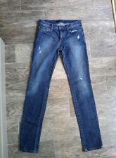 "Joe's Jeans Women's sz 26 Medium Wash Straight Leg Destructed Distress 33"" ins."