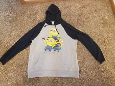 """Despicable Me Minions """"Jorge Dave Stewart"""" Men's Pull-Over Hoodie Licensed S-2XL"""