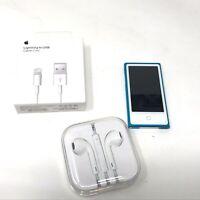 Apple iPod nano 7th Generation Blue 16GB A1446 MD477LL/A MP3 Player