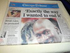 chicago tribune newspaper Michael Jordan retirement