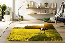 3D Pasture Mammal Cow N196 Animal Non Slip Rug Mat Round Elegant Carpet Amy