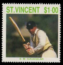 St. Vincent 1988-S.M. Gavaskar Cricketer-1 Value-MNH-S.G. 1147