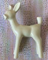 Vintage Mid Century Shawnee Fawn Deer Planter Ivory