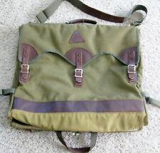 Vintage DUCKS UNLIMITED BOYT Canvas & Leather Garment Bag Travel Bag