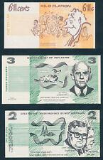 "AUSTRALIA: 1972-75 SET OF 4 POLITICAL ""FUNNY MONEY"" Includes Whitlam & McMahon"