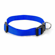 Durable Nylon Pet Dog Solid Color Collar 11 Colors 4 Sizes Puppy S-XL