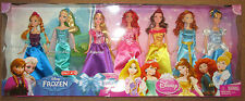 DISNEY PRINCESS DOLL SET ULTIMATE COLLECTION 7 PACK BARBIES ELSA ARIEL RAPUNZEL