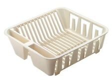 RUBBERMAID TWIN SIZE SINK PLASTIC DISH DRAINER BISQUE 6049-AR NEW