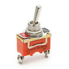 Heavy-Duty Electrical Toggle Switch 12mm 15A 250V AC SPST 2Pin 2 Position ON-OFF