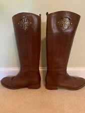 Tory Burch Ashlynn Ladies Brown Leather Boots Size 9.5M