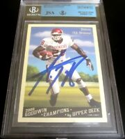 Adrian Peterson autographed signed autograph 2009 UD Goodwin Champions JSA BGS