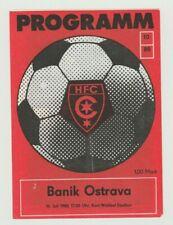 Orig.PRG   IFC / Intertoto Cup  1988  HALLESCHER FC CHEMIE - BANIK OSTRAVA  !!
