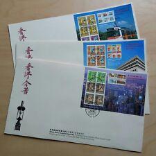 1997 Hong Kong Classics Series #7 #8 #9 Definitive SS FDC 香港经典邮票第七第八第九辑小型张首日封3个