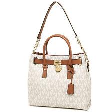 #crzyj Michael Kors Bag 30S2GHMT3L MK Hamilton Large Signature Tote Vanilla Agsb