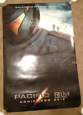 SIGNED SDCC 2012 Exclusive Pacific Rim Poster by Guillermo Del Toro San Diego