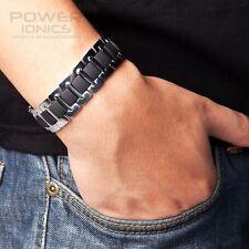 New Power Ionics Mens Titanium Ion Wide Bracelet Wristband Balance Energy PT003