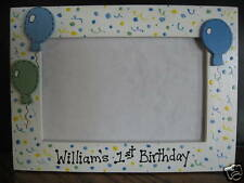 MY FIRST BIRTHDAY - personalized boy children baby photo picture frame
