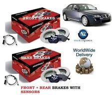 FOR ROVER 75 ALL MODELS 99> FRONT REAR BRAKE DISCS SET + DISC PADS KIT& SENSORS